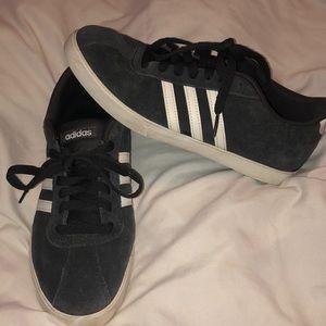 Gray adidas sneakers